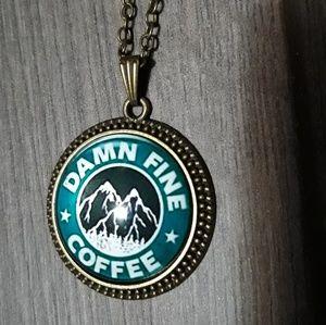 New twin peaks damn fine coffee necklace